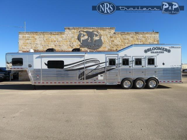 2021 Bloomer PC 8418PCOLCE PC Load Outlaw Conversions 4 Horse Slant Load Trailer 18 FT LQ w/ Slideouts