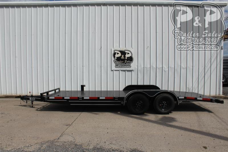 """2021 P and P PPSFCH20X83GDSR *** 20' x 83"""" *** Car Hauler Flatbed Trailer"""
