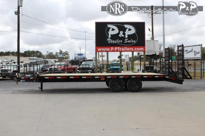 2021 P and P PPTA22x102DO 22 ' Flatbed Trailer