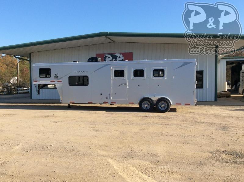 2021 Lakota Colt AC39NS 3 Horse Slant Load Trailer 9 FT LQ