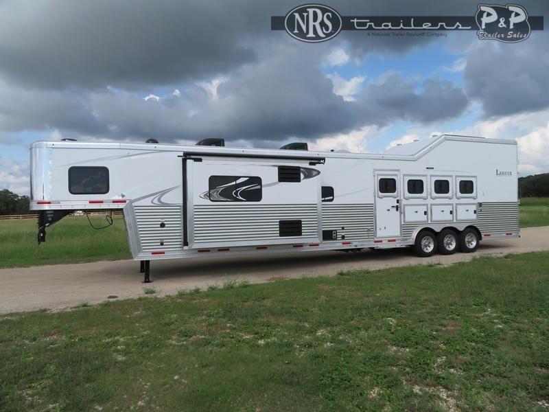 2021 Lakota Bighorn BH8419 4 Horse Slant Load Trailer 19 FT LQ w/ Slideouts