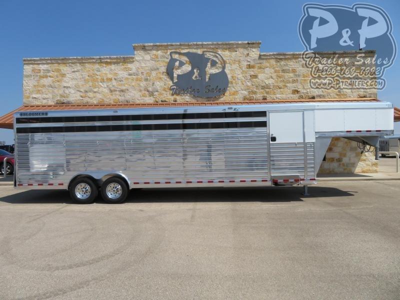 2021 Bloomer Polo 7 Horse Slant Load Trailer w/ Ramps
