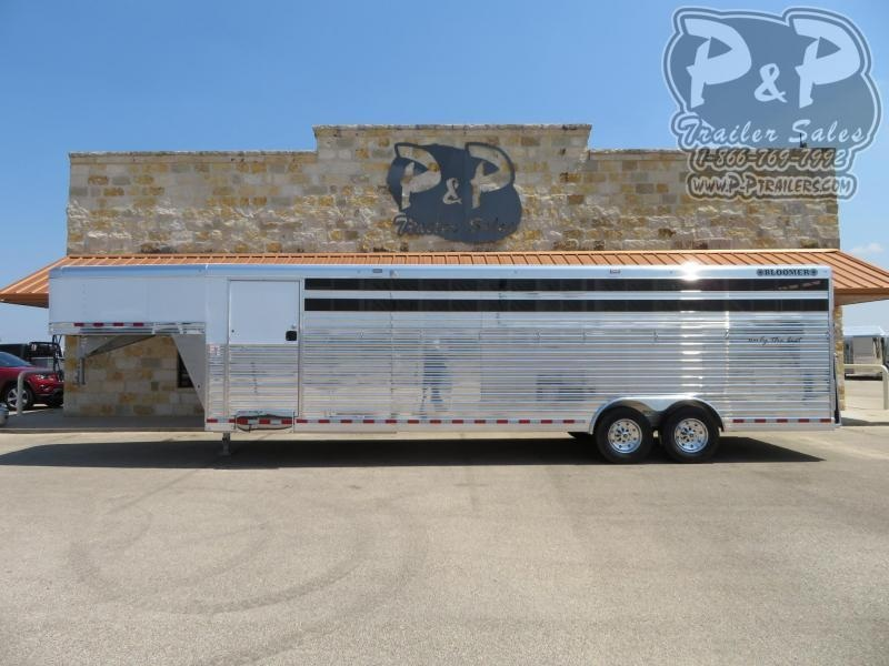 2021 Bloomer Polo 7 Horse Slant Load Trailer w/ Ramps