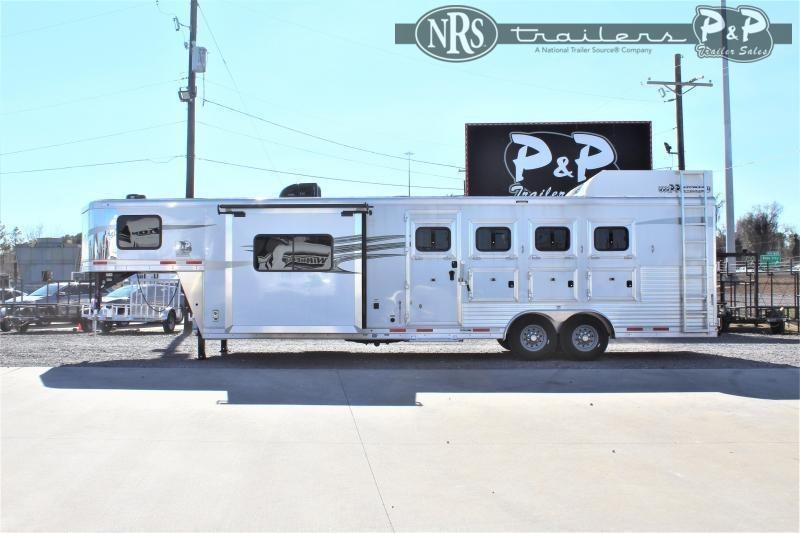 2022 Lakota Charger C8411 4 Horse Slant Load Trailer 11 FT LQ With Slides