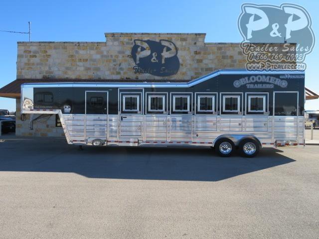 2021 Bloomer 86TRN 6 Horse Super Tack Trainer 6 Horse Slant Load Trailer w/ Ramps