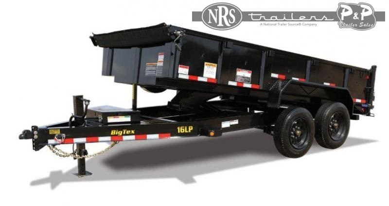 2022 Big Tex Trailers 16LP-16BK6SIRPD Super Duty Ultra Low Profile 16 ' Dump Trailer