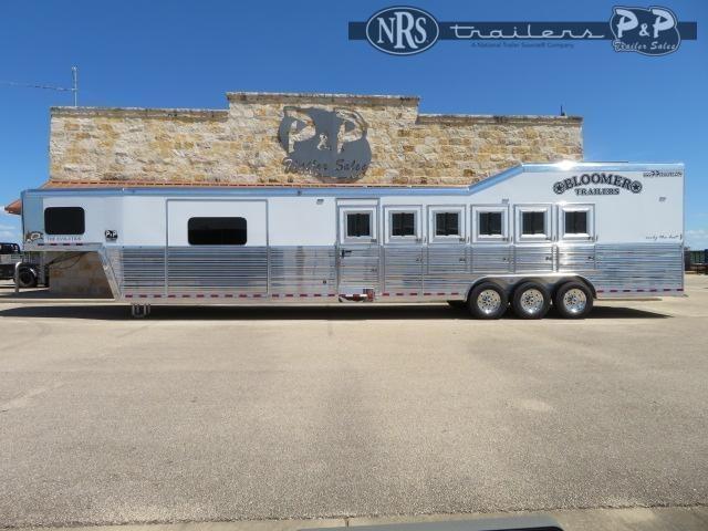 2022 Bloomer 8615PCOL 6 Horse Slant Load Trailer 15 FT LQ With Slides w/ Ramps
