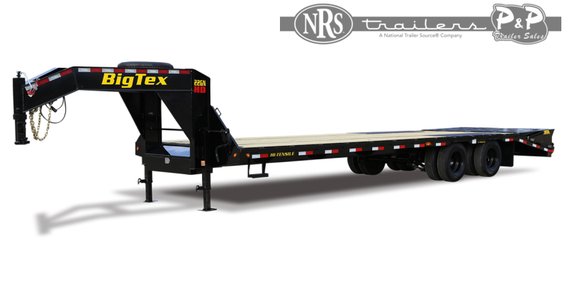 2022 Big Tex Trailers 22GN-20BK+5MR 25 ' Flatbed Trailer
