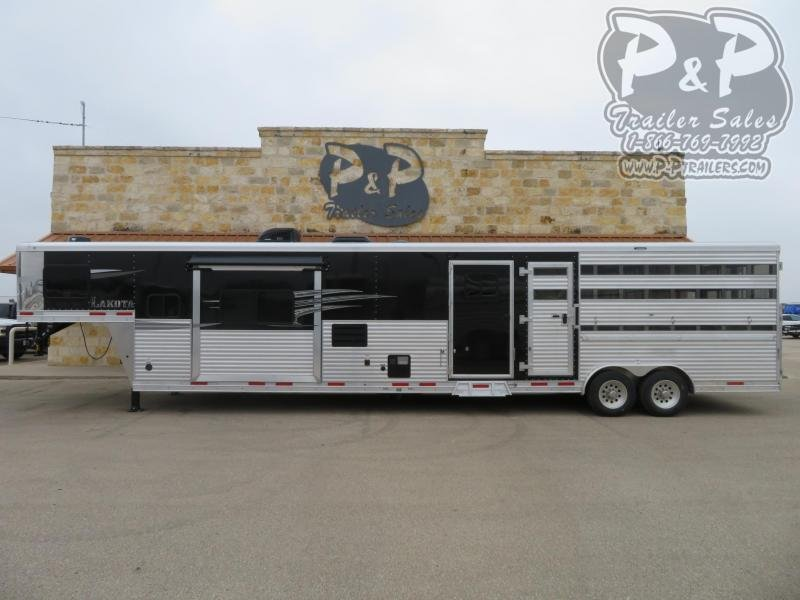 2020 Lakota Charger LE81415SRB 35 ft Livestock Trailer LQ