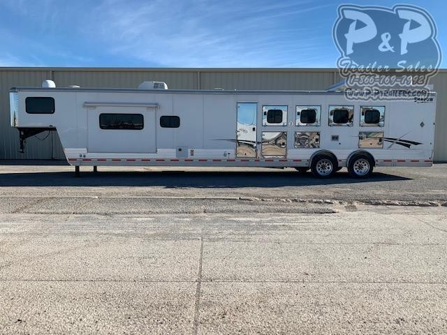 2012 Shadow Trailers 8415DSL 4 Horse Slant Load Trailer LQ With Slides w/ Ramps