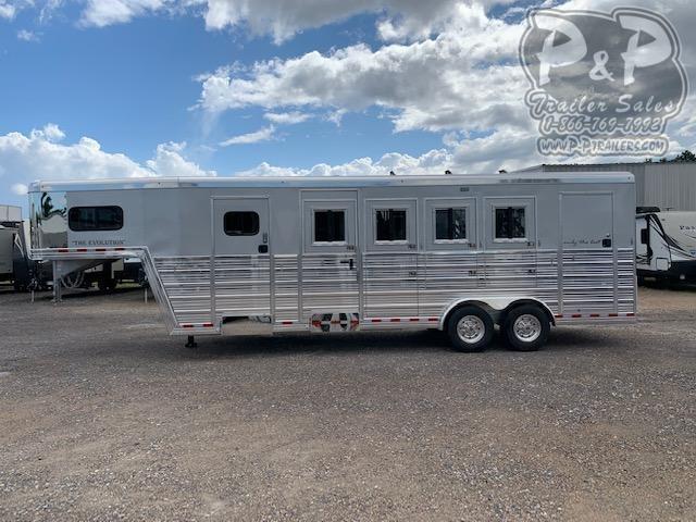 2019 Bloomer 764HGN 4 Horse Slant Load Trailer