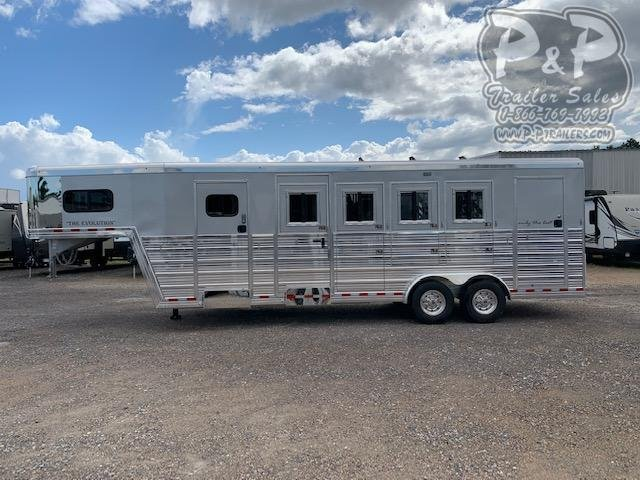 2019 Bloomer 764HGN 4 Horse Slant Load Trailer
