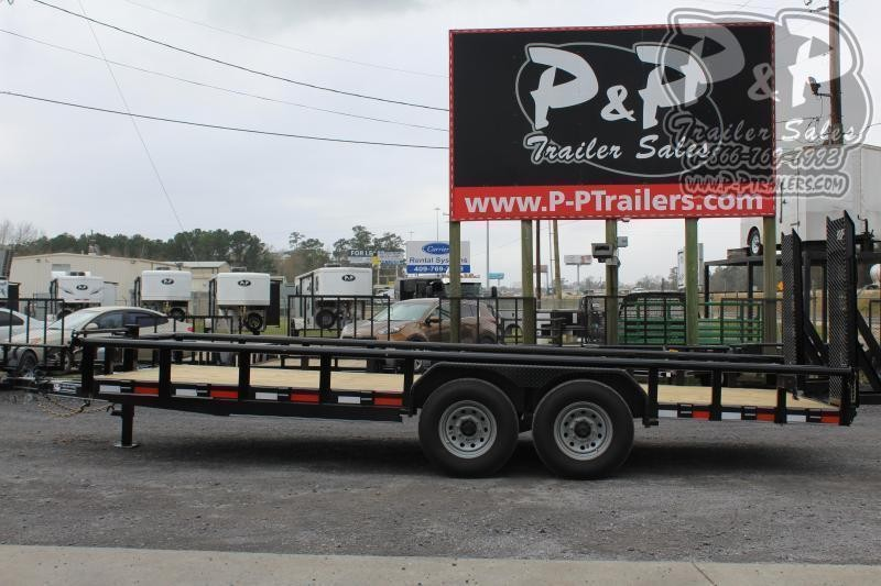 "2021 P and P PPTA20X83HDFURPT Heavy Duty Fold-up Ramps 83"" x 20 ' Utility Trailer"