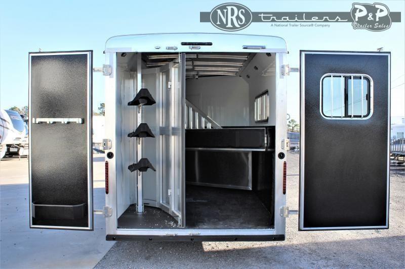2021 Bison Trailers Scout ST7308 3 Horse Slant Load Trailer 8 FT LQ
