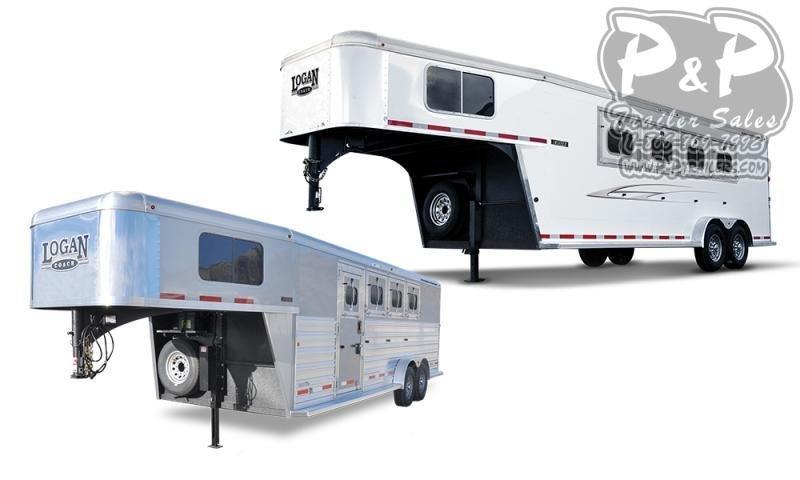 2016 Logan Coach razor 8416 4 Horse Slant Load Trailer 16.8 FT LQ With Slides