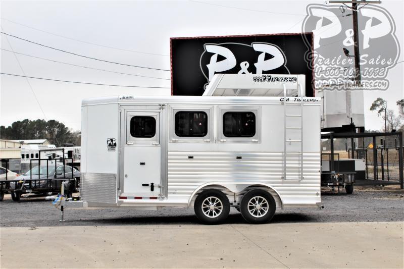 2021 CM CMH5043-16 3 Horse Slant Load Trailer