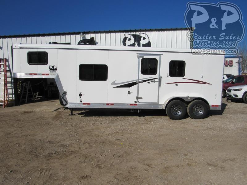 2021 Bison Trailers Scout ST7208 2 Horse Slant Load Trailer 8 FT LQ