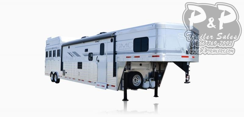 2021 SMC Horse Trailers SL8X18SCEB LARAMIE 3 Horse Slant Load Trailer 18 FT LQ With Slides