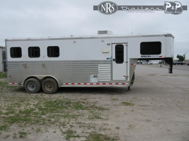 2013 Sundowner Trailers Horizon 6906RS 3 Horse Slant Load Trailer 6 FT LQ