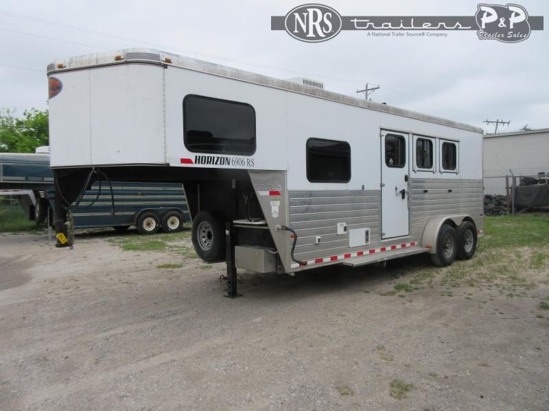 2013 Sundowner Trailers Horizon 6906RS 3 Horse Slant Load Trailer 6 FT LQ