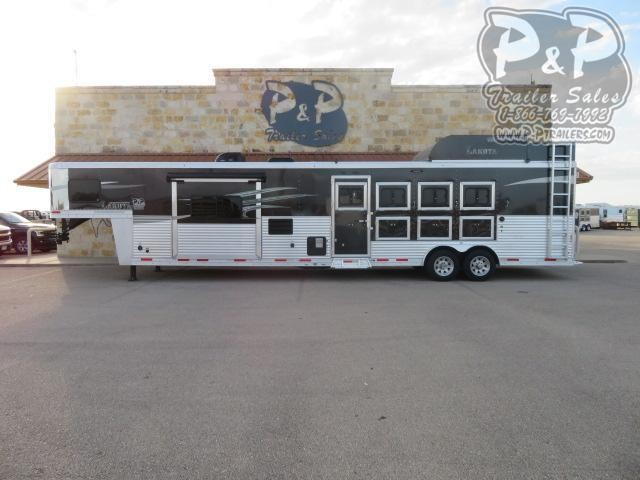 """2018 Lakota C8415SR Side Load 4 Horse Slant Load Trailer 15'7"""" FT LQ With Slides w/ Ramps"""