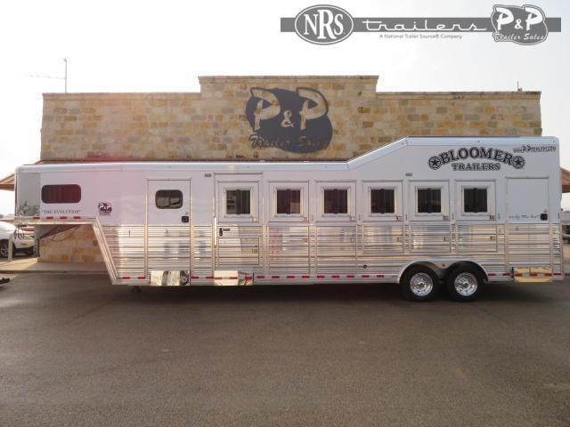 2021 Bloomer 86TRN Super Tack Trainer 6 Horse Slant Load Trailer w/ Ramps