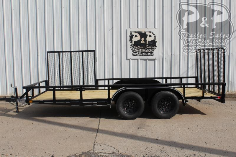 "2020 P and P PPTA16X83GDRGPTSG ***16' x 83"" *** Side & Rear gate Utility Trailer"