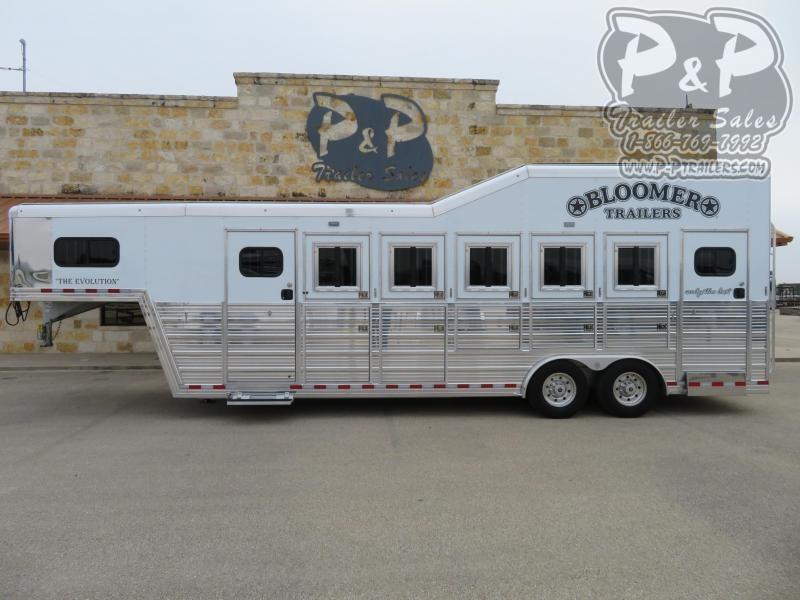 2021 Bloomer 85TRNS 5 Horse Slant Load Trailer w/ Ramps