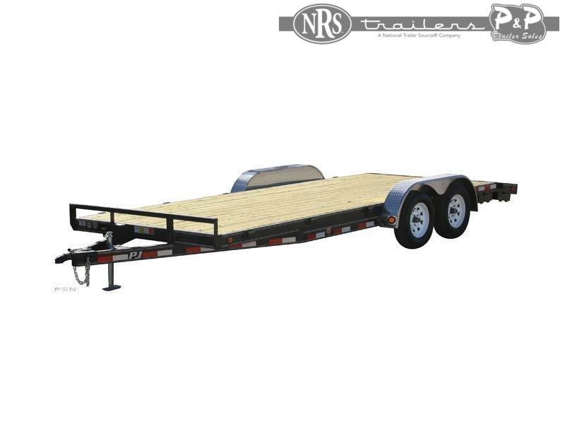 2021 PJ Trailers 5 in. Channel Car Hauler C522032CSPKT 20 ' Flatbed Trailer