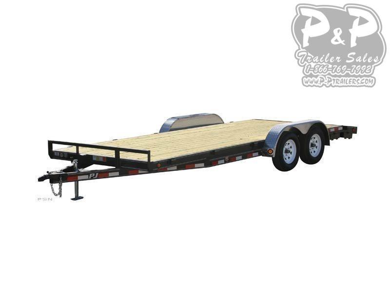 2021 PJ Trailers 5 in. Channel Car Hauler C522032CSPKT 22 ' Flatbed Trailer