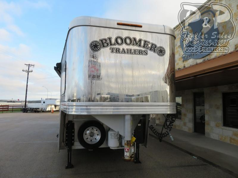2017 Bloomer PC Load Outlaw Conversion 4 Horse Slant Load Trailer 15 FT LQ w/ Ramps