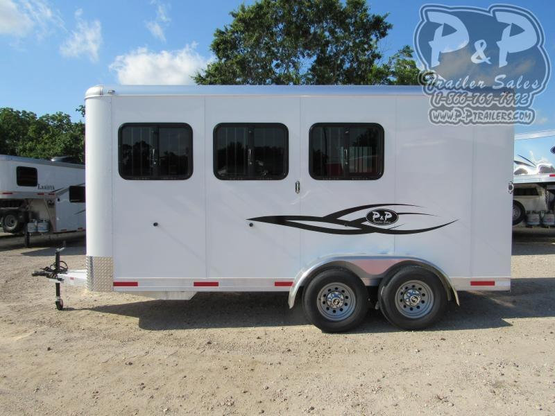 2021 P and P Tall 3 Horse Slant Load Trailer