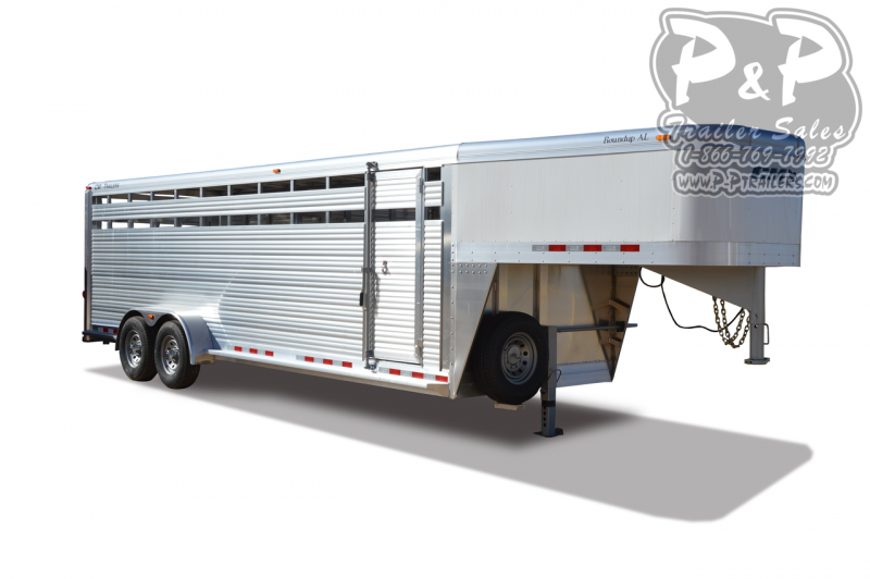 2019 CM Roundup AL 24 ft Livestock Trailer