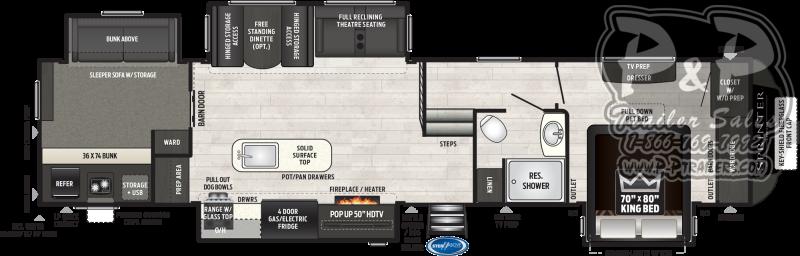 2021 Keystone RV Sprinter Limited 3620LBH Fifth Wheel Campers RV