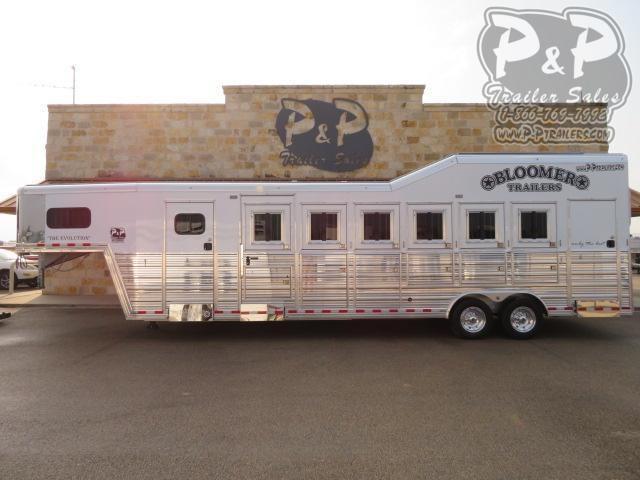 2021 Bloomer 6 Horse Super Tack Trainer 6 Horse Slant Load Trailer w/ Ramps