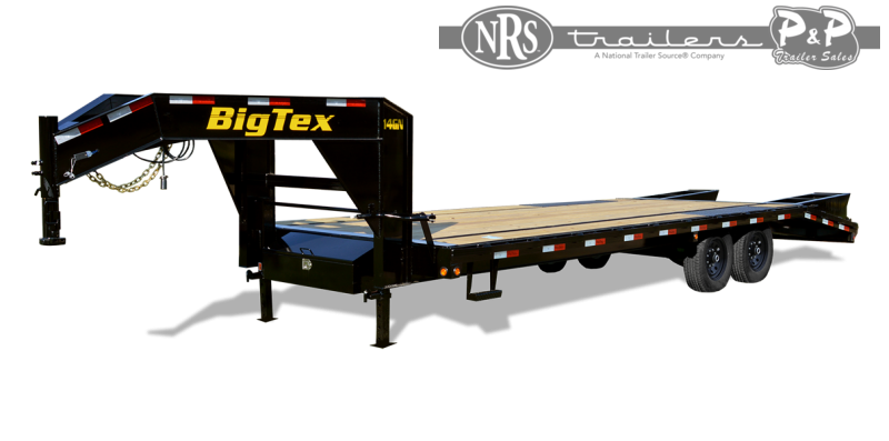 2021 Big Tex Trailers 14GN 20BK 5MR 25 Flatbed Trailer