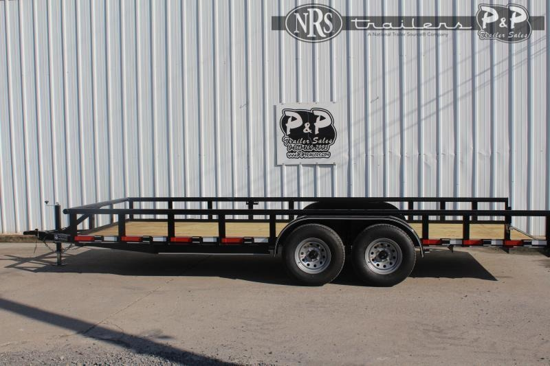 2021 P and P PPTA20x83MDSRPT 20 ' Utility Trailer