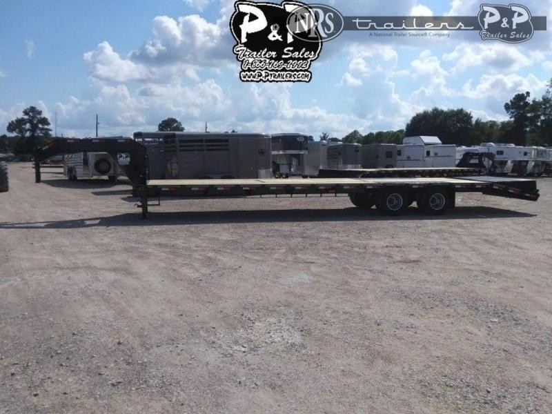 2021 P and P PPDT30+5X102HDMRLP 35 ' Flatbed Trailer