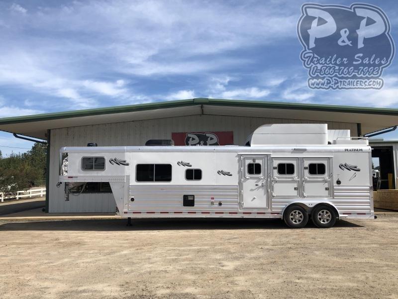 2020 Platinum Coach 8313OL 3 Horse Slant Load Trailer 13 FT LQ