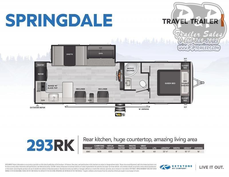 2021 Keystone RV Springdale 293RK 361 Travel Trailer RV