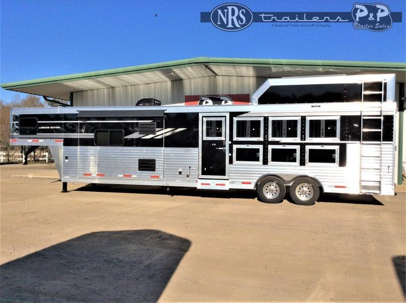 2021 SMC Horse Trailers SL8415SRKCE 4 Horse Slant Load Trailer 15 FT LQ w/ Slideouts