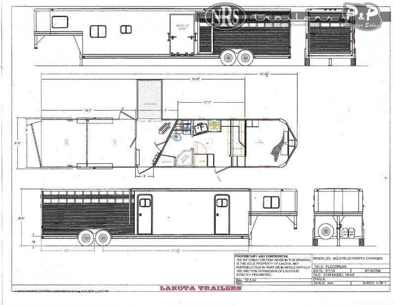 2022 Lakota Charger LE81611NS 33 ' Livestock Trailer LQ