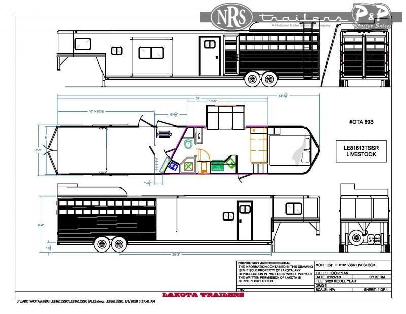 2022 Lakota Charger LE81613SR Livestock Trailer LQ