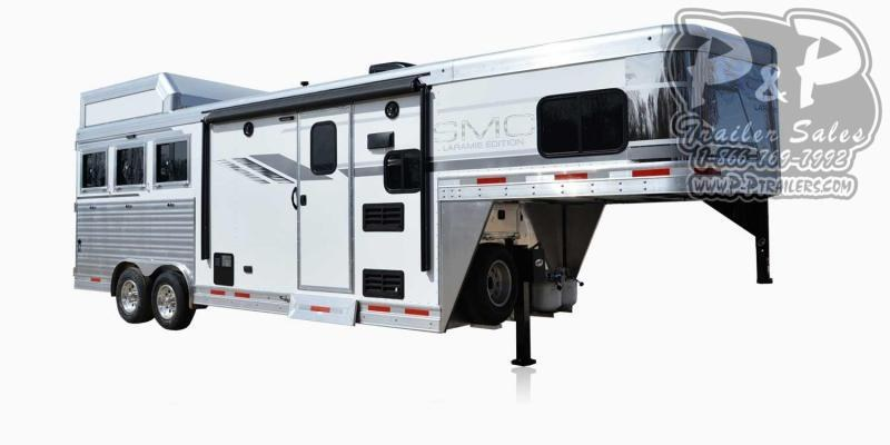 2021 SMC Horse Trailers SL8X8FK LARAMIE 3 Horse Slant Load Trailer 8 FT LQ With Slides