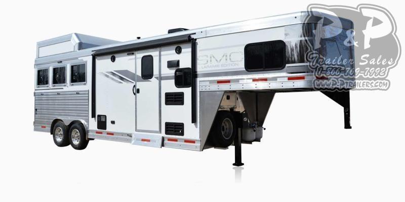 2021 SMC Horse Trailers SL8X8FK LARAMIE 3 Horse Slant Load Trailer 8 FT LQ With Slides