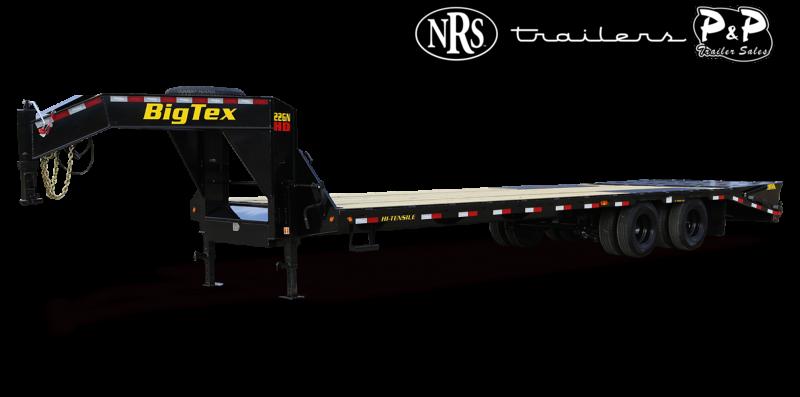 2022 Big Tex Trailers 22GN-20BK+5MR 25 ' Flatbed Trailer