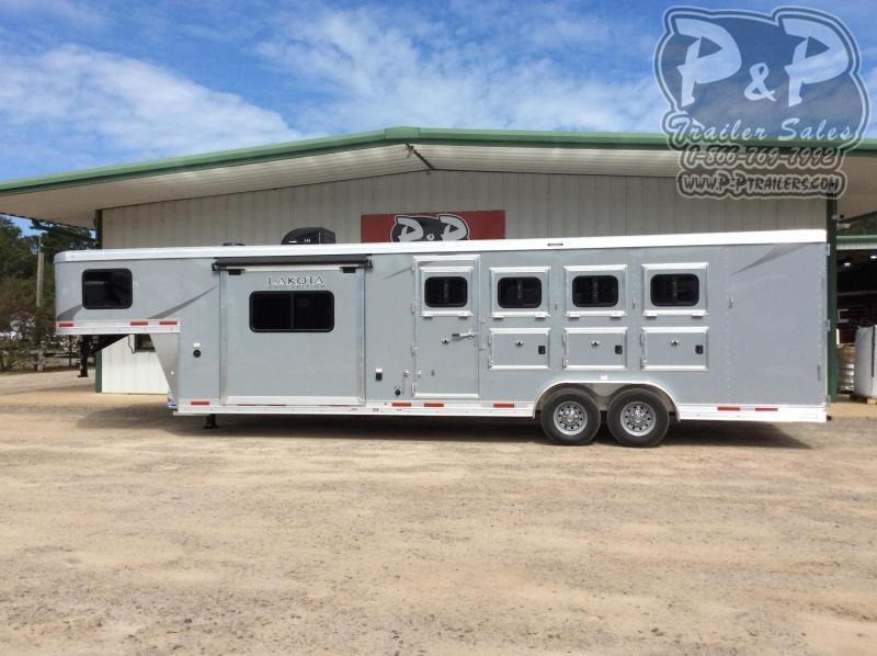 2021 Lakota Colt AC8411 4 Horse Slant Load Trailer 11 FT LQ With Slides