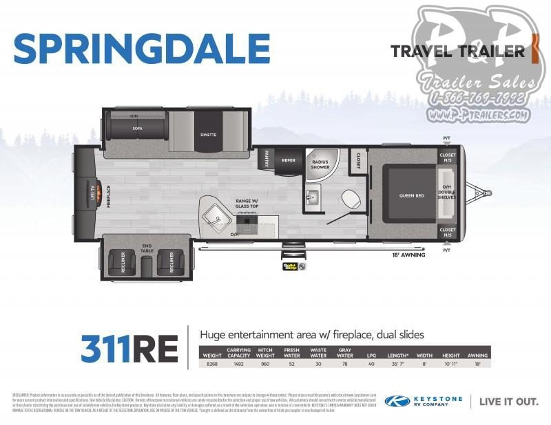 2021 Keystone RV Springdale 311RE 35 Travel Trailer RV