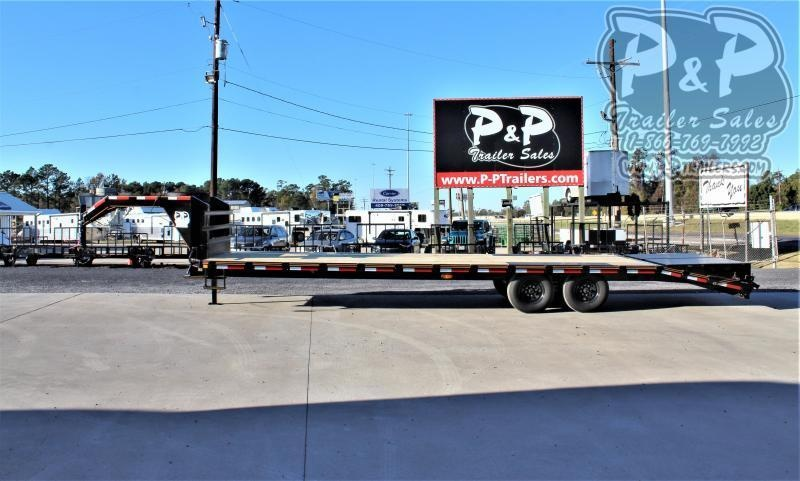 2021 P and P PPGN25+5x102HDMRLP 30 ' Flatbed Trailer