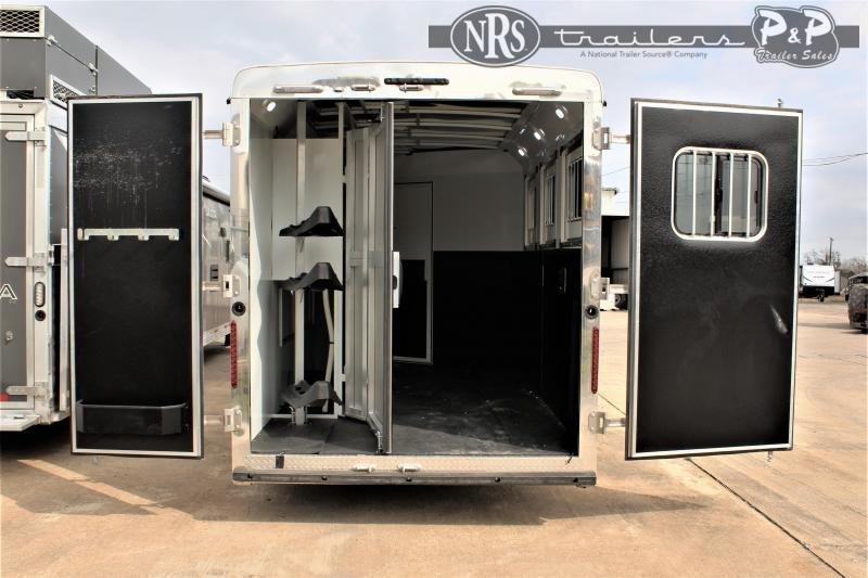 2021 Bison Trailers Ricochet RC7311.S 3 Horse Slant Load Trailer 11 FT LQ w/ Slideouts